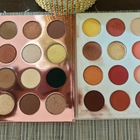 The I Think I Love You (left) and Yes Please palettes