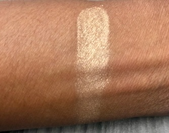 Swatch with no powder or primer underneath.